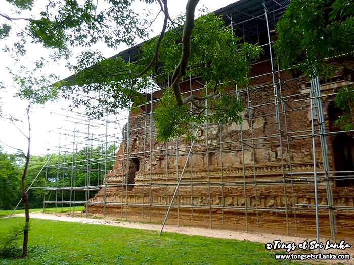 Temple de Thivanka au Sri Lanka à Polonnaruwa
