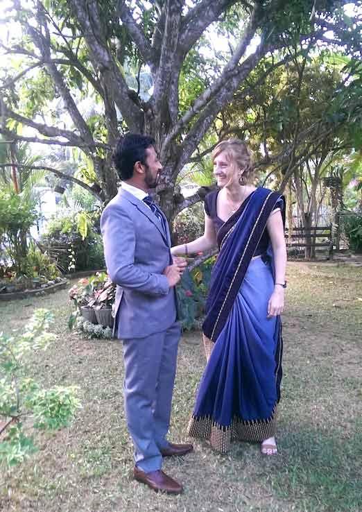 Maud et son mari expatriés au Sri Lanka