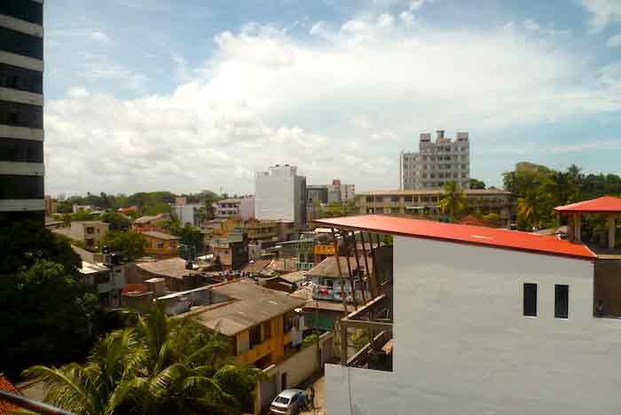 Vue sur Colombo depuis un appartement d'expatriés au Sri Lanka