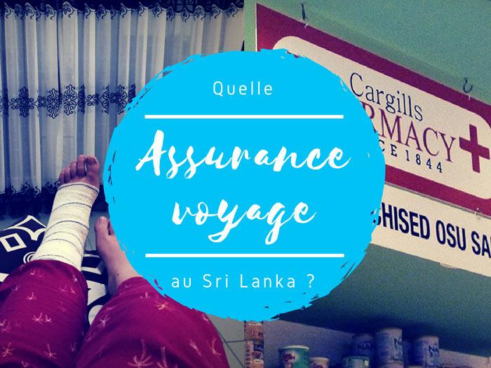 assurance voyage au Sri Lanka par tongs et sri lanka
