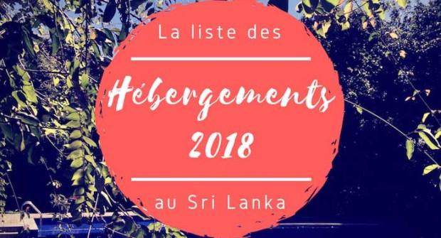 Quel hôtel au Sri Lanka en 2018 ? Les bonnes (et moins bonnes) adresses