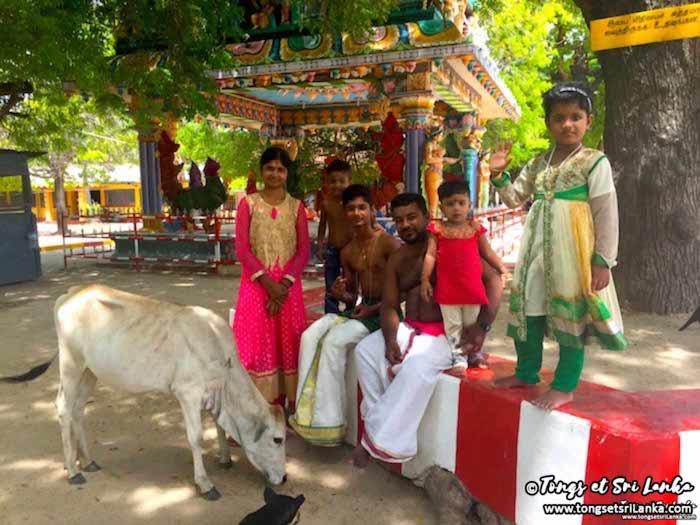 Un temple hindou à Jaffna au Sri Lanka