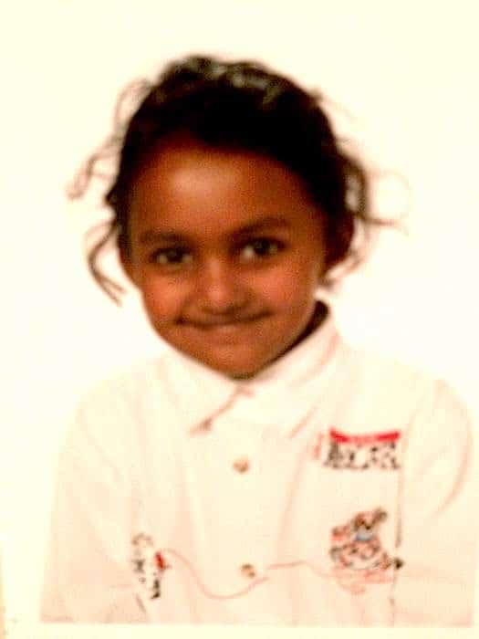 julie enfant adoptée au Sri Lanka