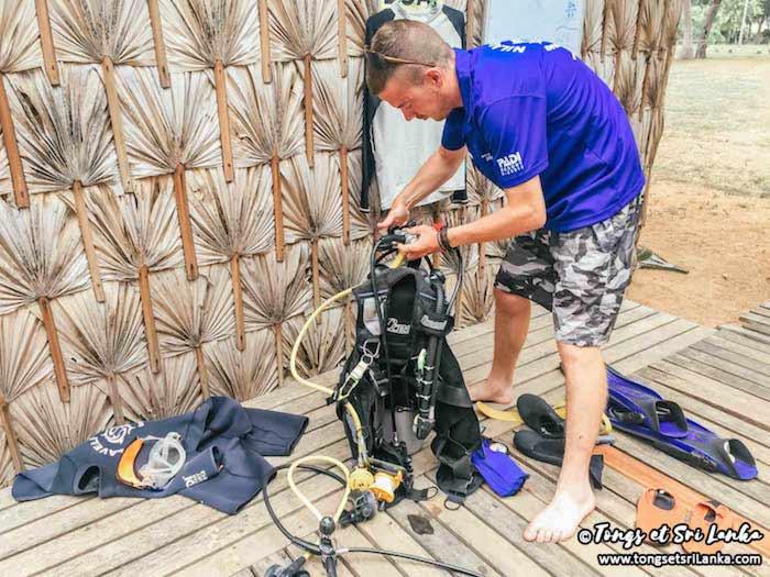 préparer sa plongée au Sri Lanka à Nilaveli