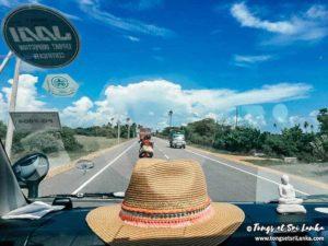route de la péninsule nord du sri lanka
