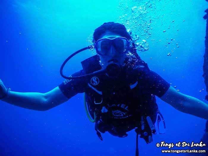 Tongs et Sri Lanka en plongée