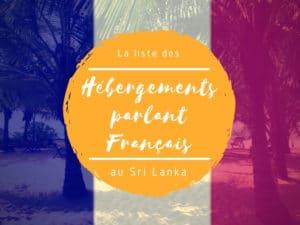 hébergements francophones au Sri Lanka