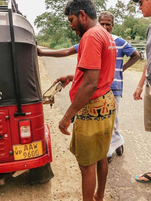 panne d'essence au sri lanka