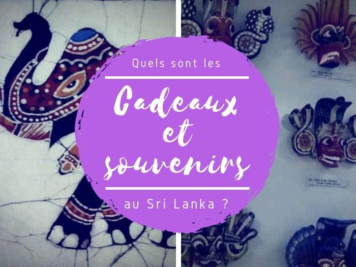Souvenirs au Sri Lanka