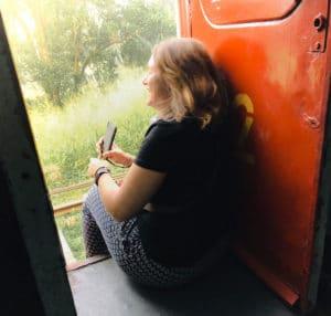 dans le train sri lankais