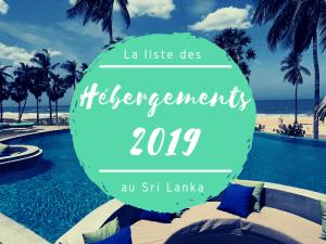 hébergements 2019 au Sri Lanka