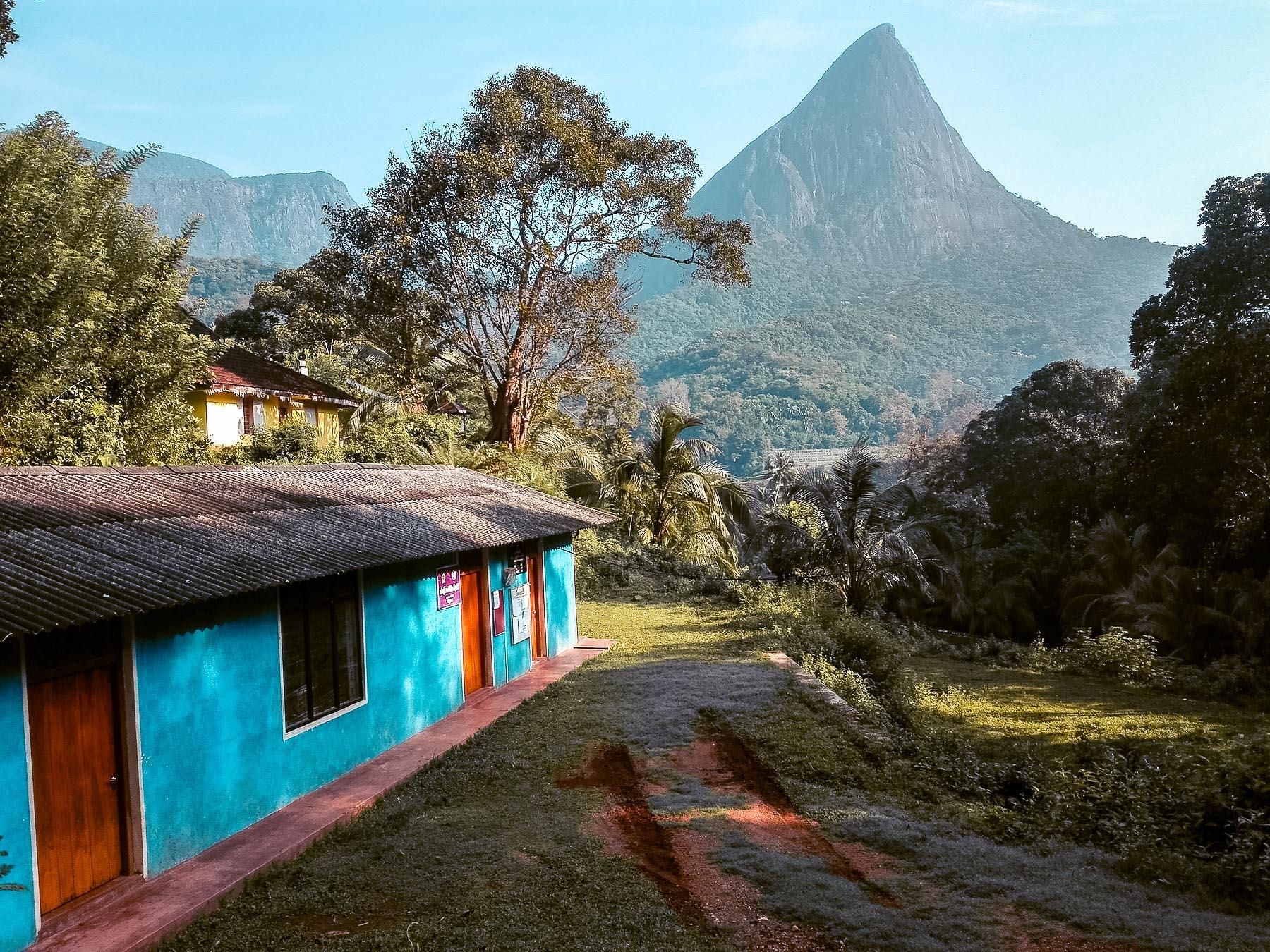 Vue dans le village de Meemure