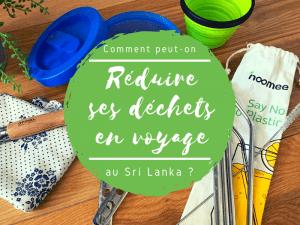 réduire ses déchets en voyage au Sri Lanka