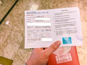 formalités d'arrivée au Sri Lanka