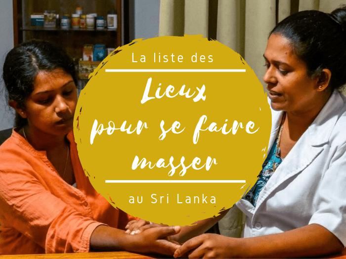 Liste des massages au Sri Lanka