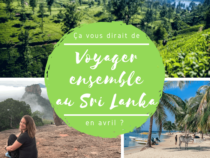voyage de groupe au Sri Lanka en avril 2020