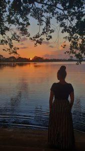 Lac de Tissa au Sri Lanka