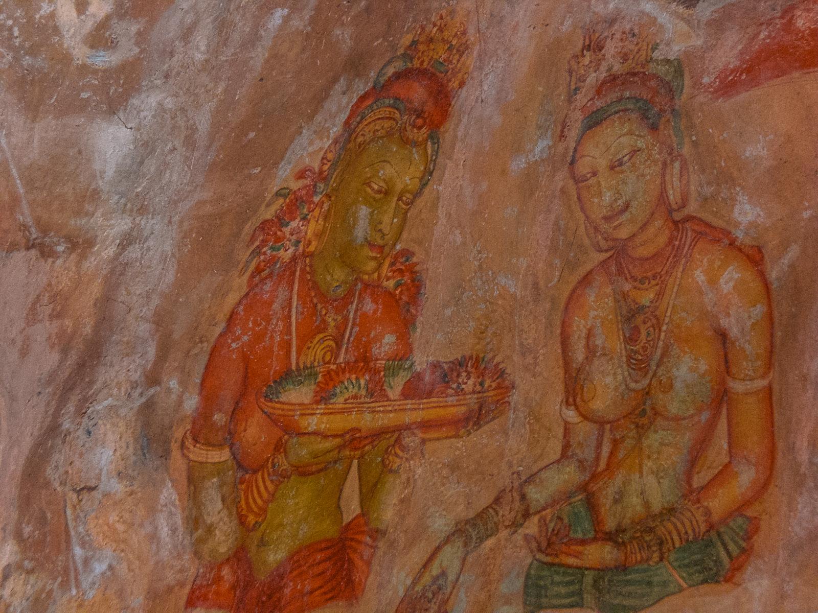 demoiselles de sigiriya peintures