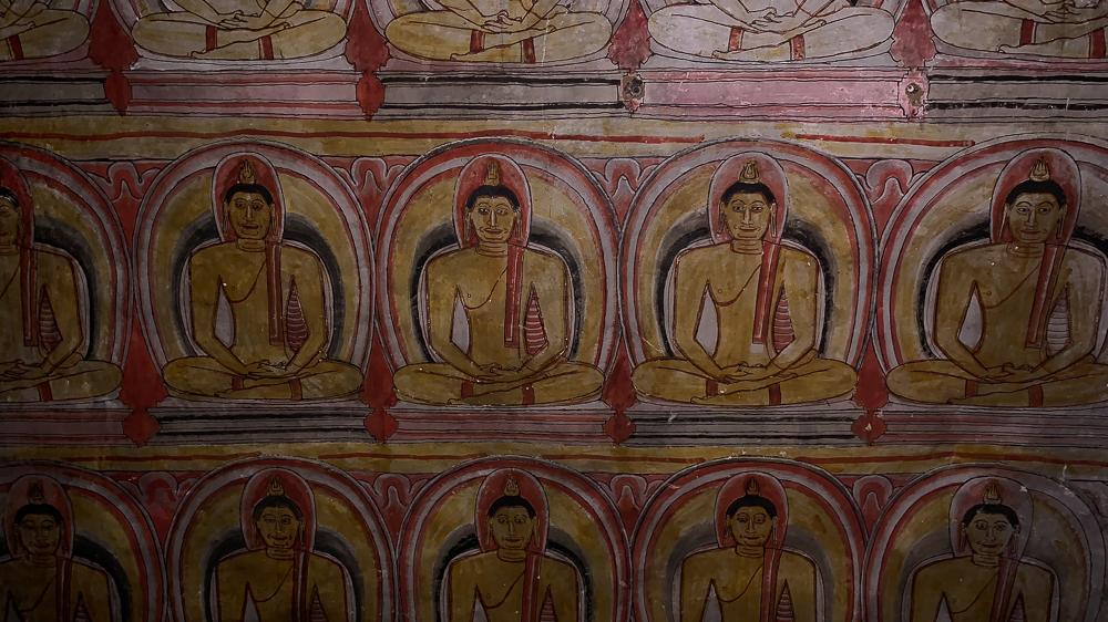 voyage virtuel : fresque dambulla