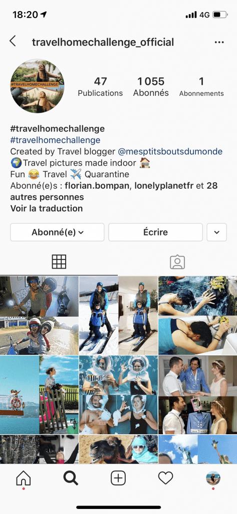 Travel home challenge Instagram